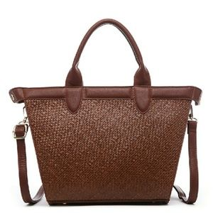 Electra Shopping Tote; Brown